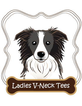 Border Collie Ladies V-Neck Tees
