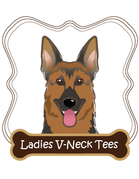German Shepherd Ladies V-Neck Tees
