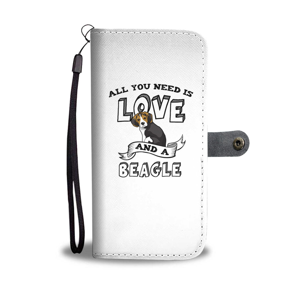 Beagle All You Need Is Love Phone Case