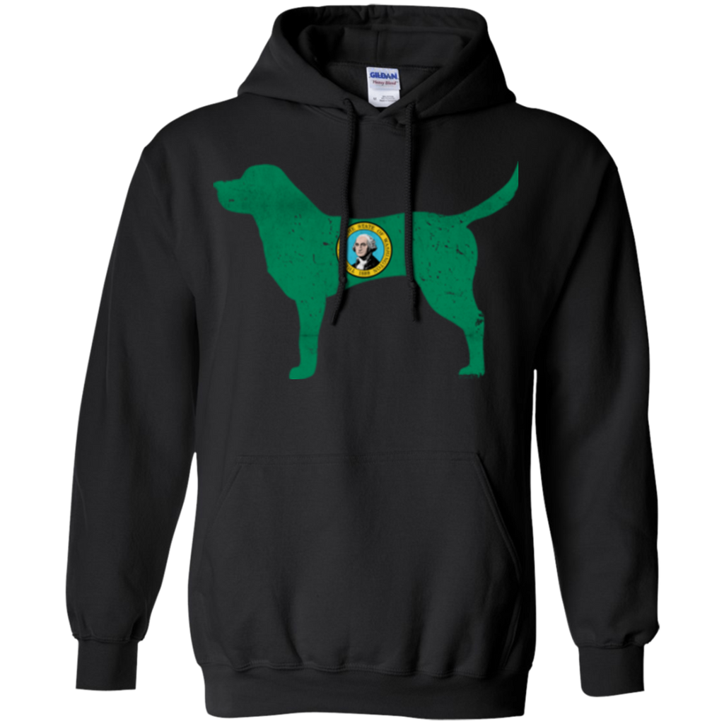 Labrador Washington Flag Pullover Hoodie 8 oz.