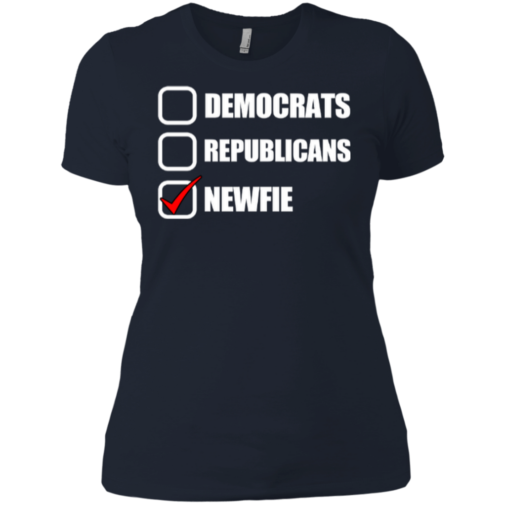 Vote Newfie Next Level Ladies' Boyfriend Tee
