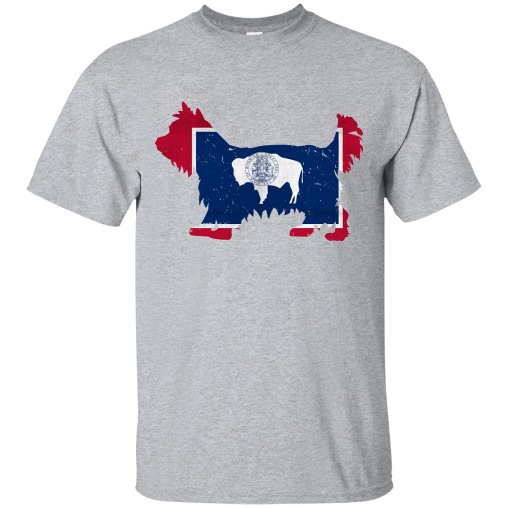 Yorkie Wyoming Flag Ultra Cotton T-Shirt