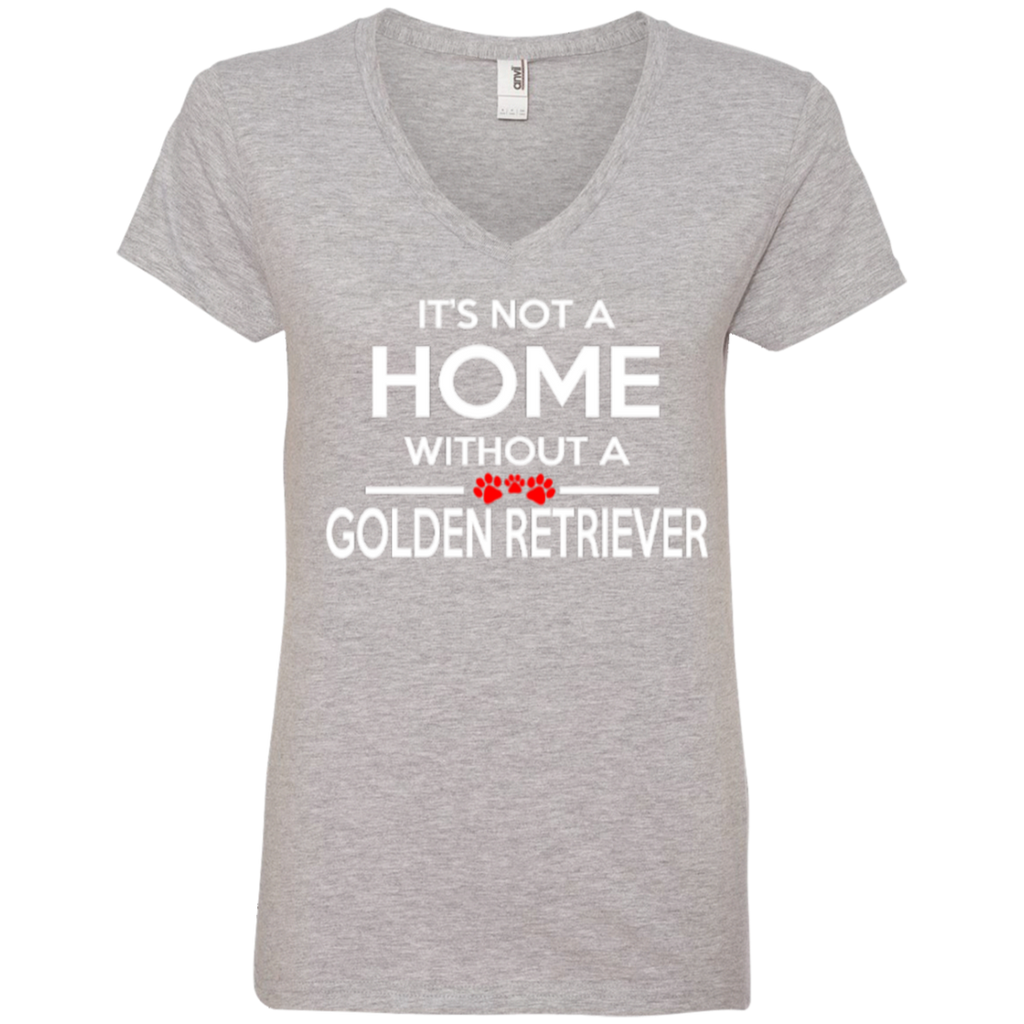Not A Home Golden Retriever Ladies' V-Neck Tee