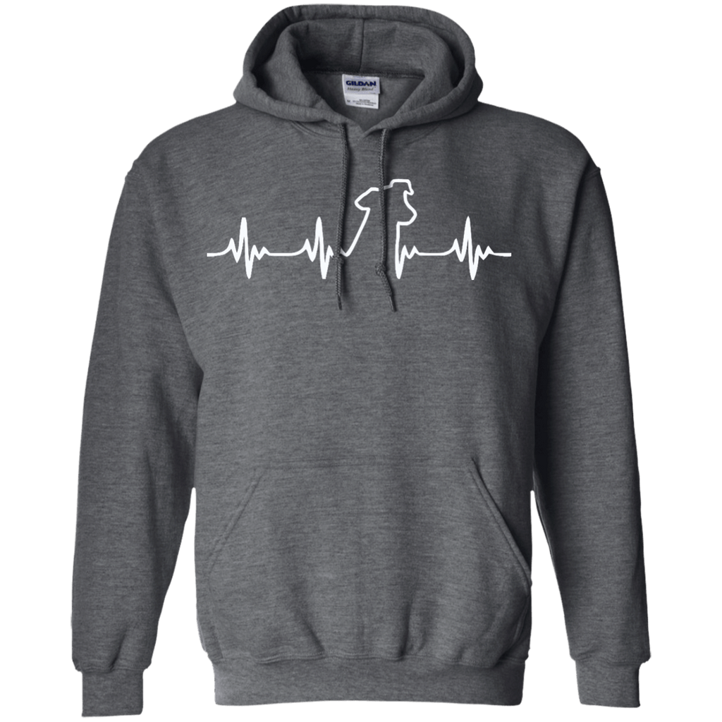 Jack Russell Heartbeat Pullover Hoodie