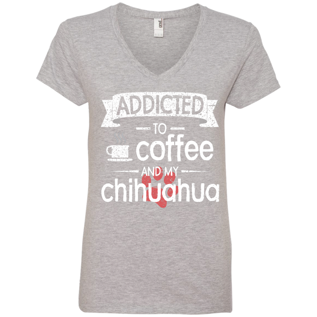 Addicted Chihuahua Ladies' V-Neck Tee