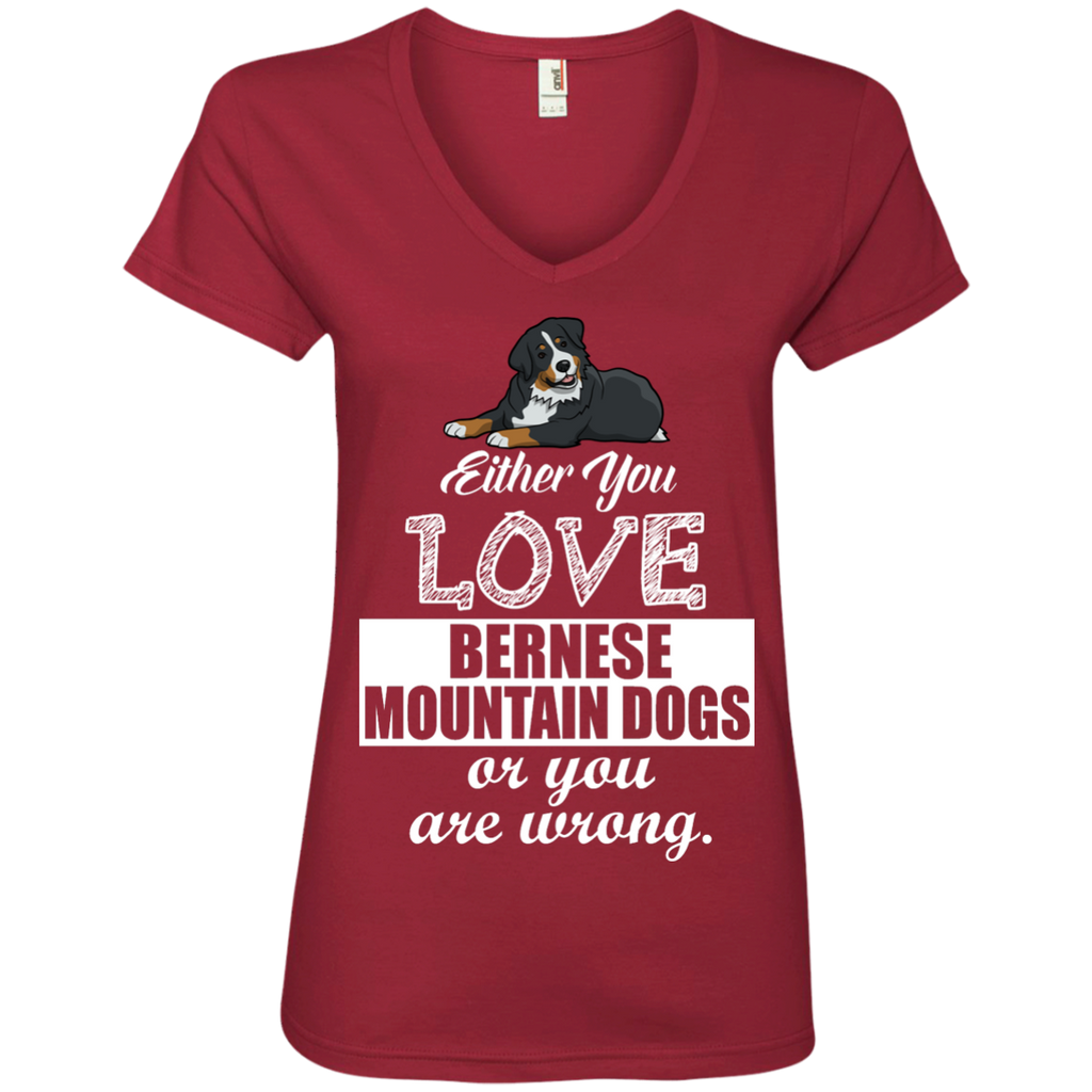 Bernese Or Wrong Ladies' V-Neck Tee