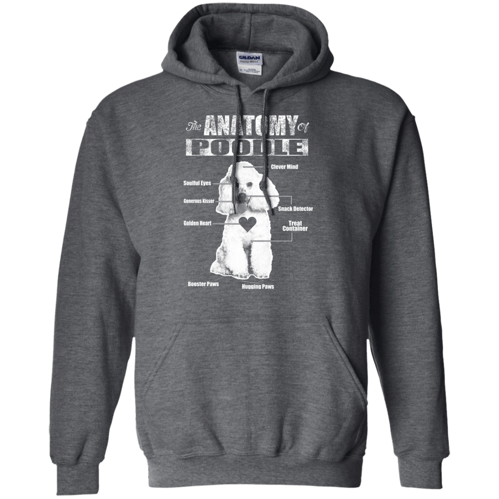 Anatomy Of Poodle Pullover Hoodie