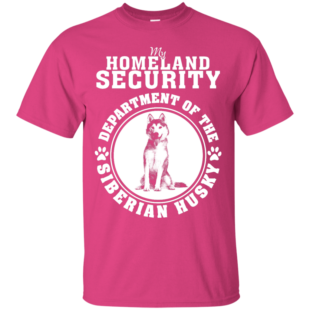 Siberian Husky Homeland Security T-Shirt