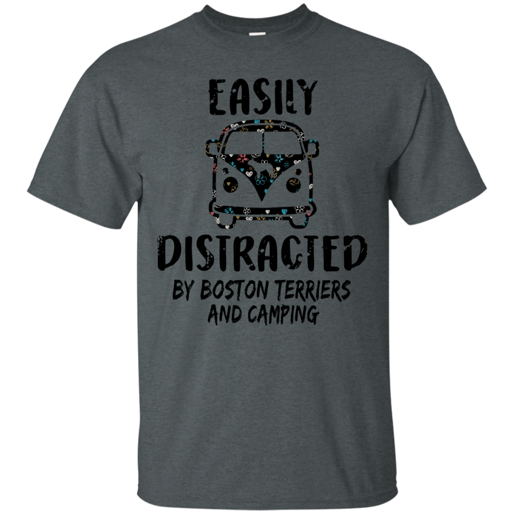 Boston Terrier And Camping Ultra Cotton T-Shirt
