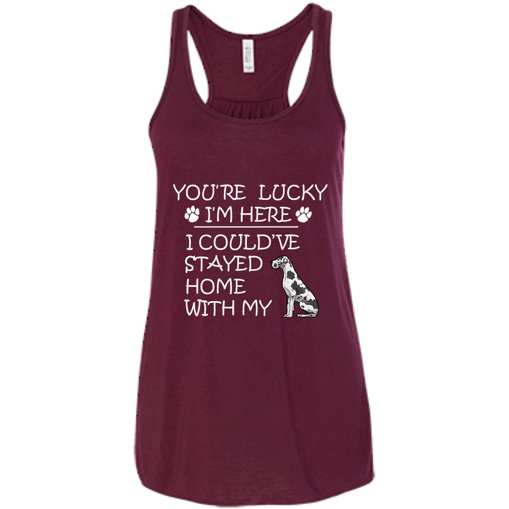 Lucky Great Dane Racerback Tank