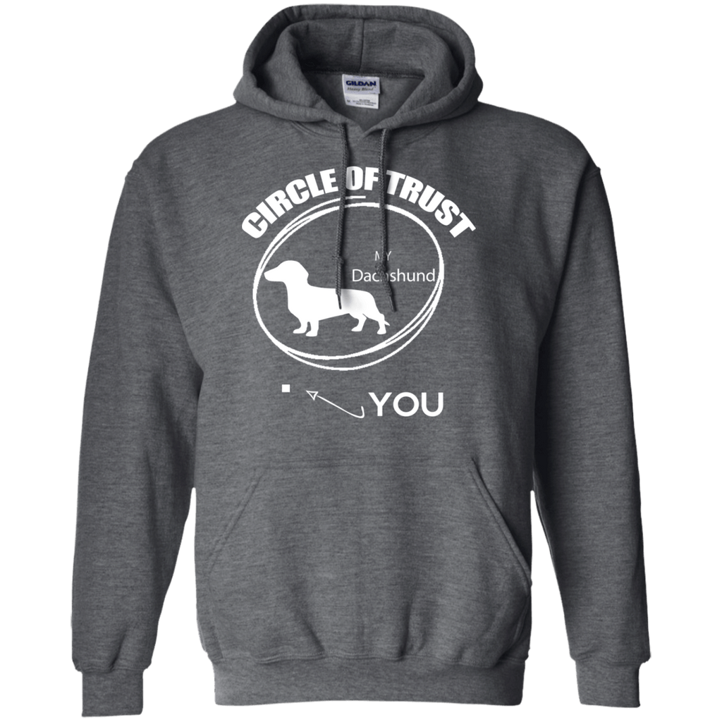 Dachshund Cirlcle of Trust Pullover Hoodie