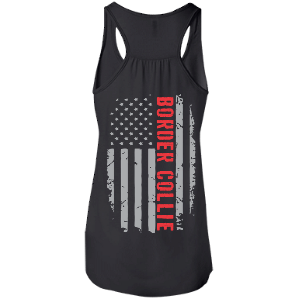 Border Collie Flag Racerback Tank