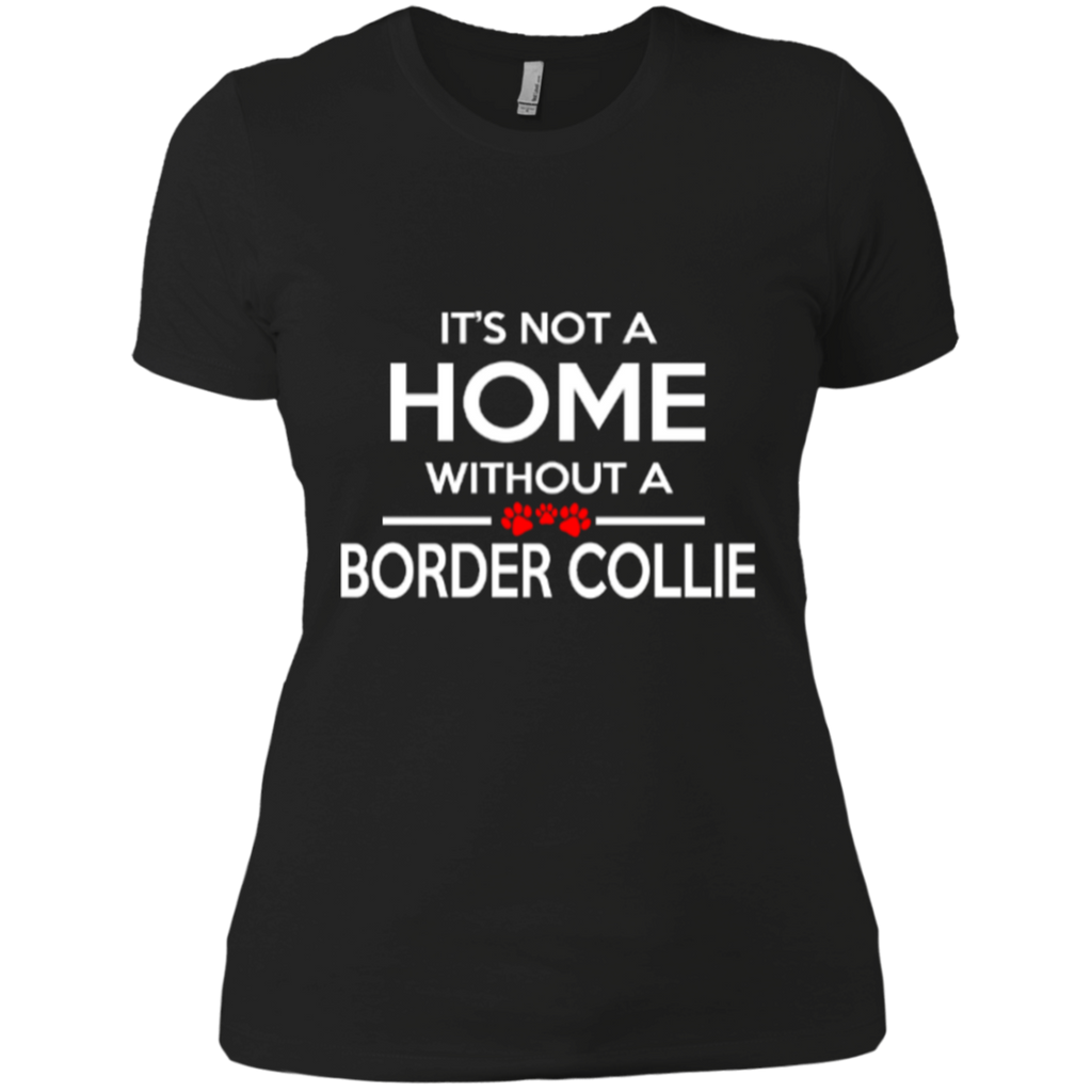 Not A Home Border Collie Fitted Tee