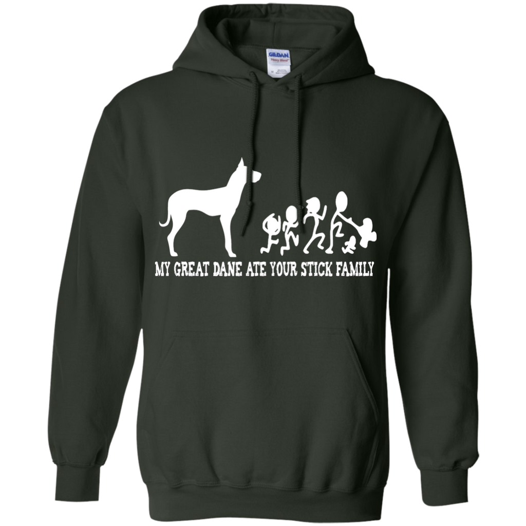 Great Dane Stick Family Pullover Hoodie