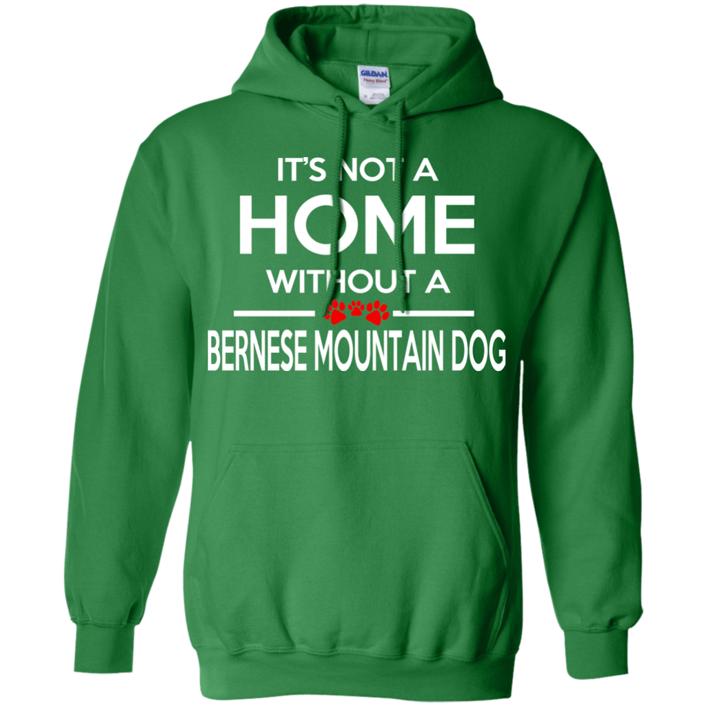 Bernese Mountain Dog Home Pullover Hoodie