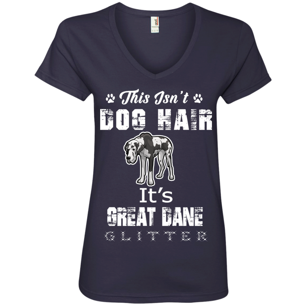Glitter Great Dane Ladies' V-Neck Tee