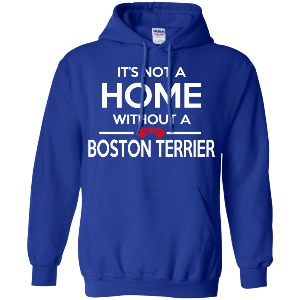 Boston Terrier Home Pullover Hoodie