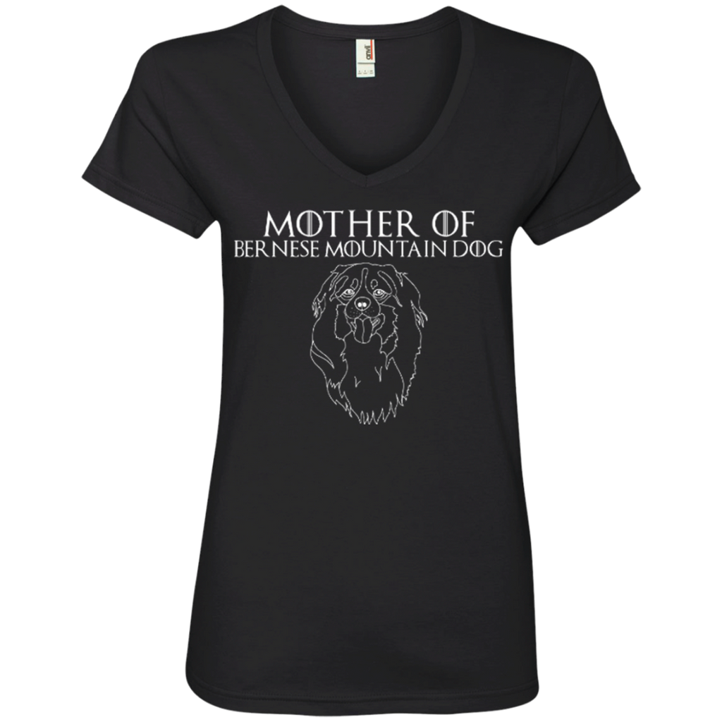 Mother Of Bernese Ladies' V-Neck Tee