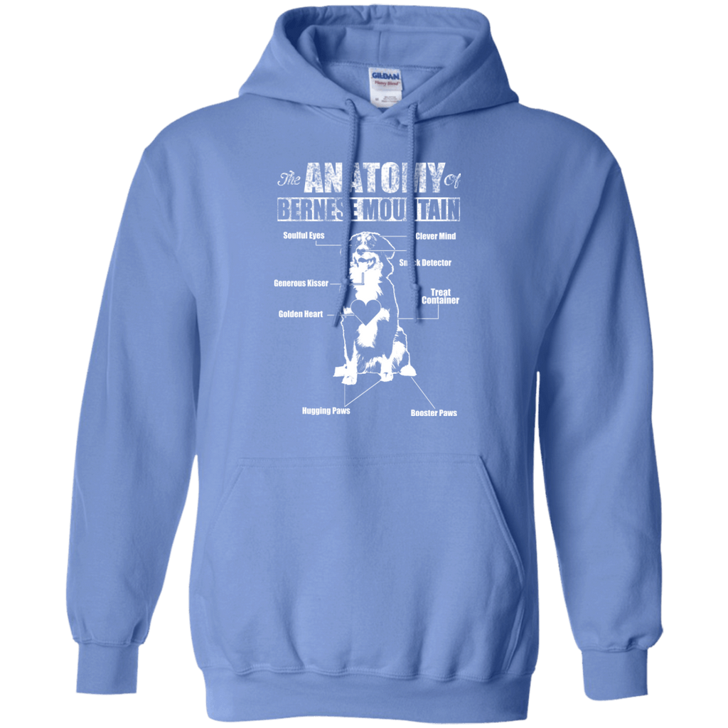 Anatomy Of Bernese Mountian Dog Pullover Hoodie