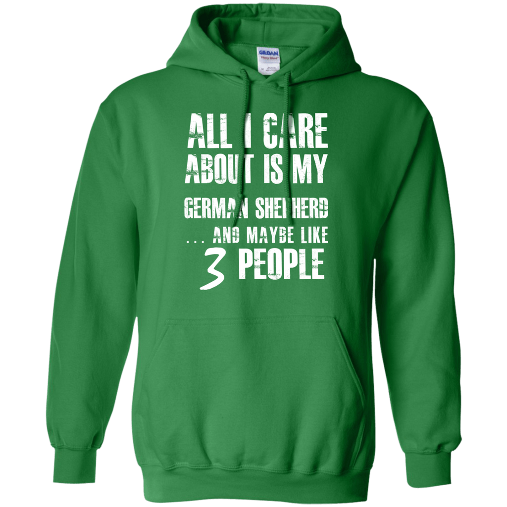 German SHepherd 3 People Pullover Hoodie