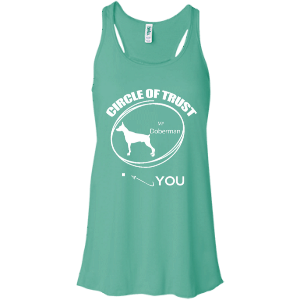 Doberman Circle Of Trust Racerback Tank