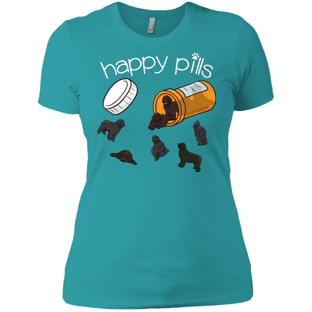 Newfie Happy Pills Fitted Tee