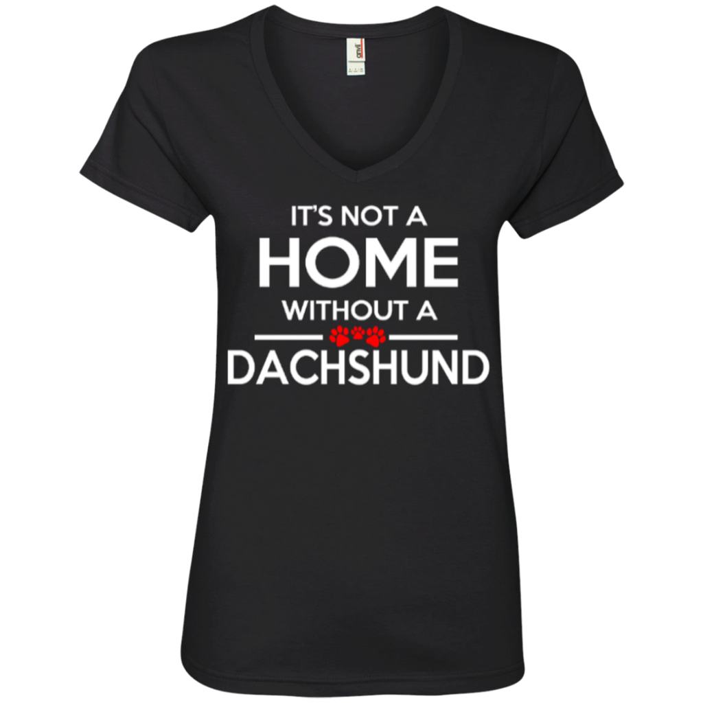 Not A Home Dachshund Ladies' V-Neck Tee