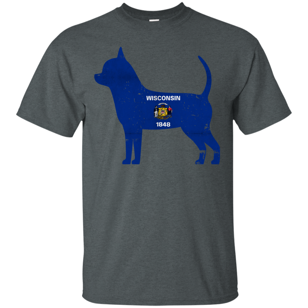 Chihuahua Wisconsin Flag Ultra Cotton T-Shirt