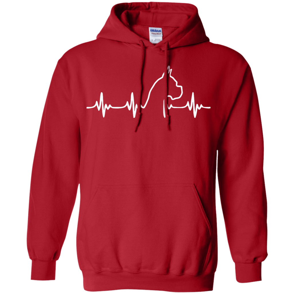 Boxer Heartbeat Pullover Hoodie