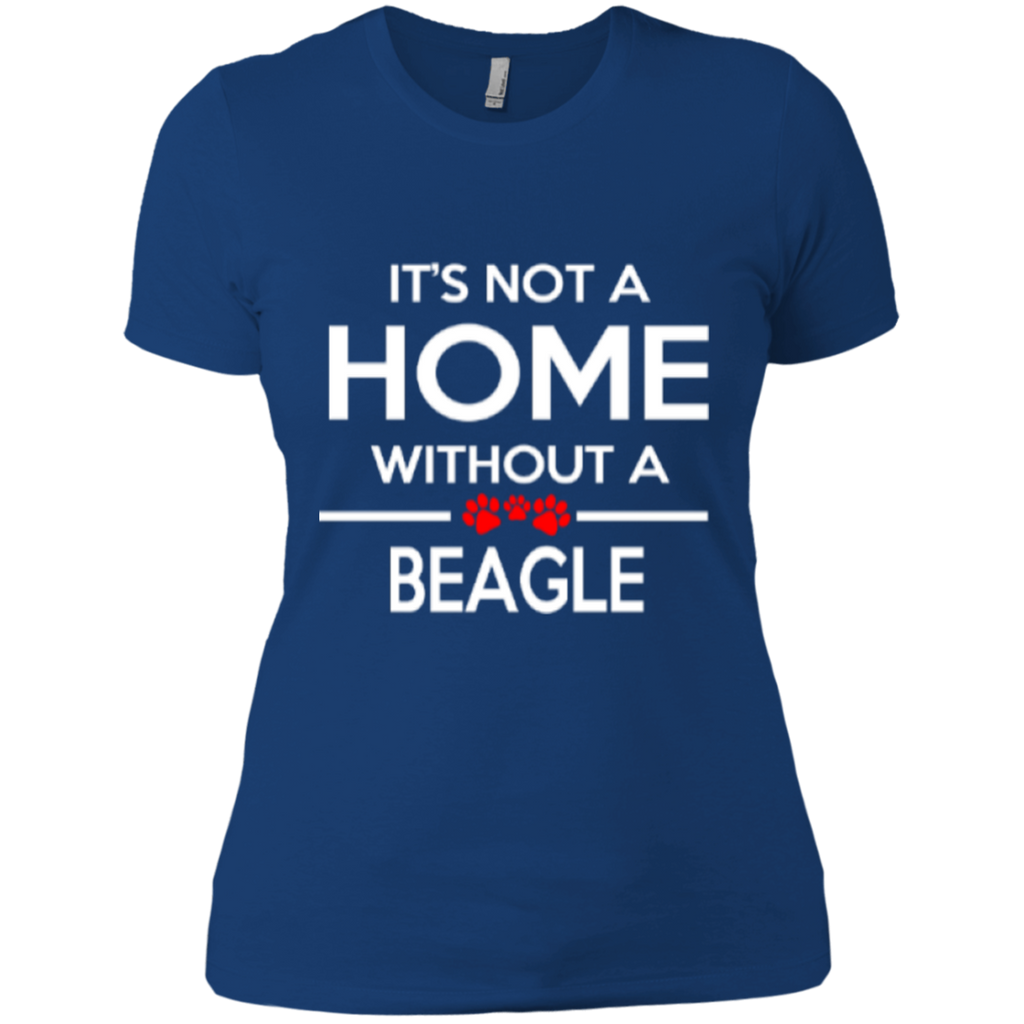 Not A Home Beagle Fitted Tee