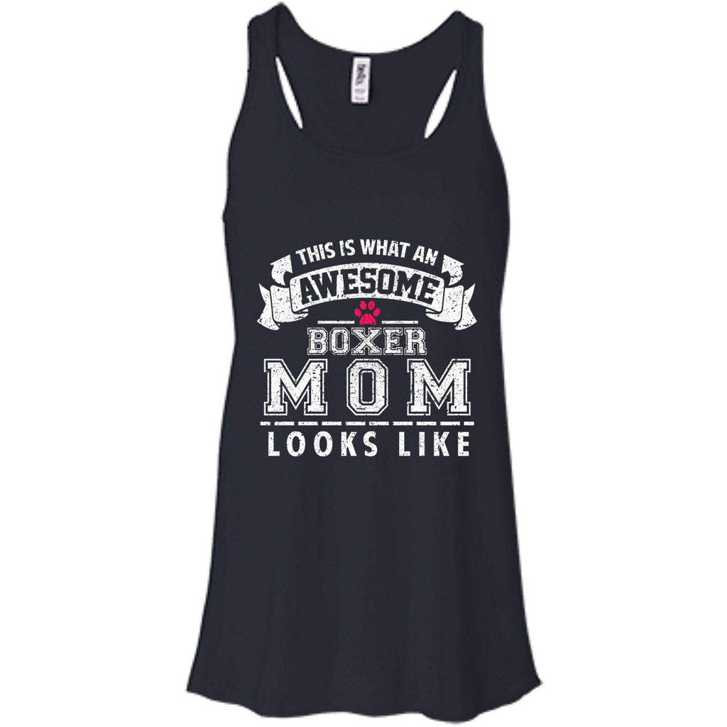 Awesome Boxer Mom Racerback Tank