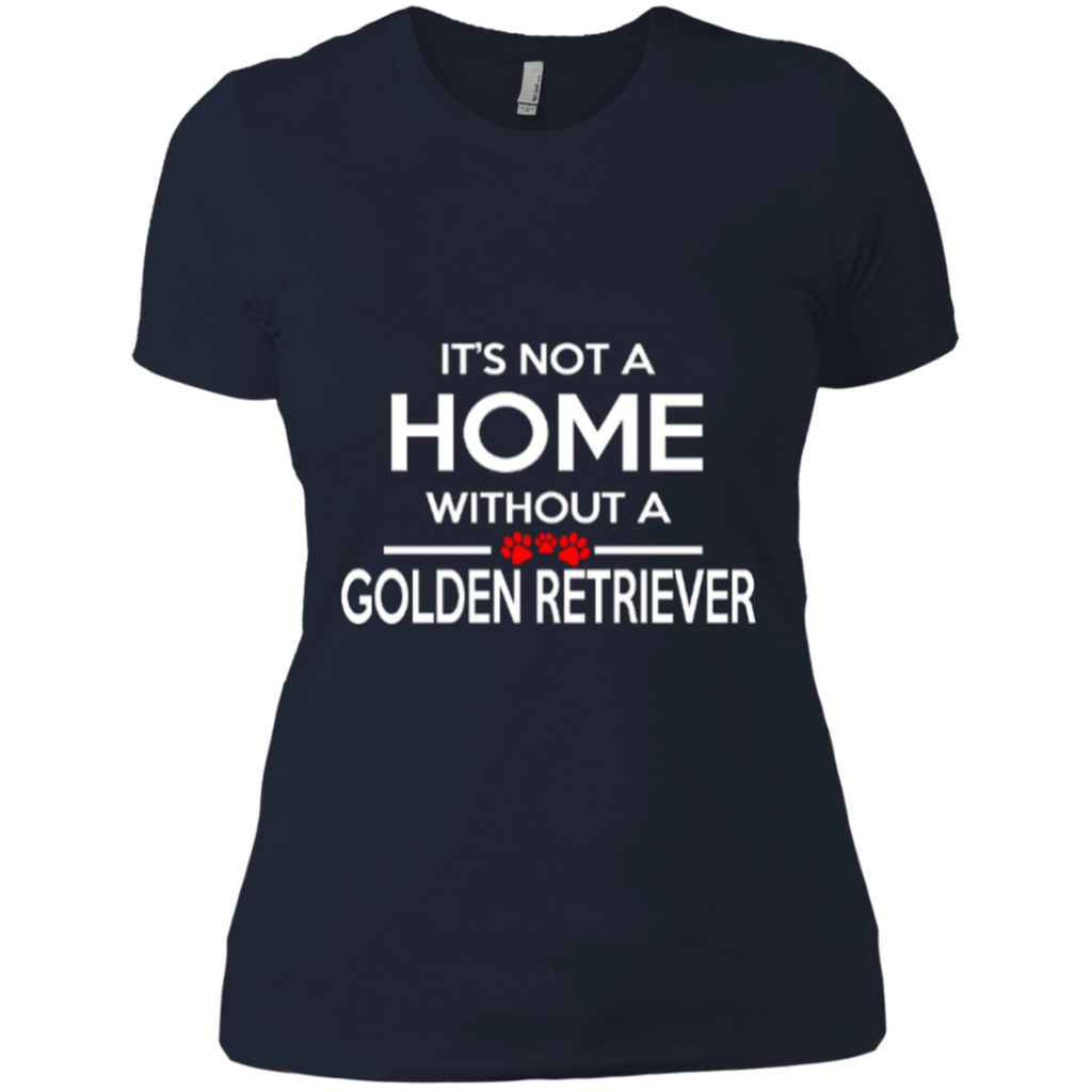 Not A Home Golden Retriever Fitted Tee
