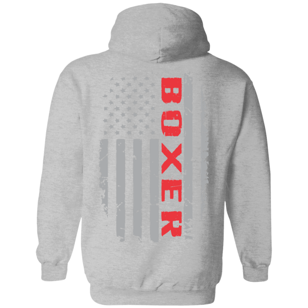 Boxer Flag Pullover Hoodie