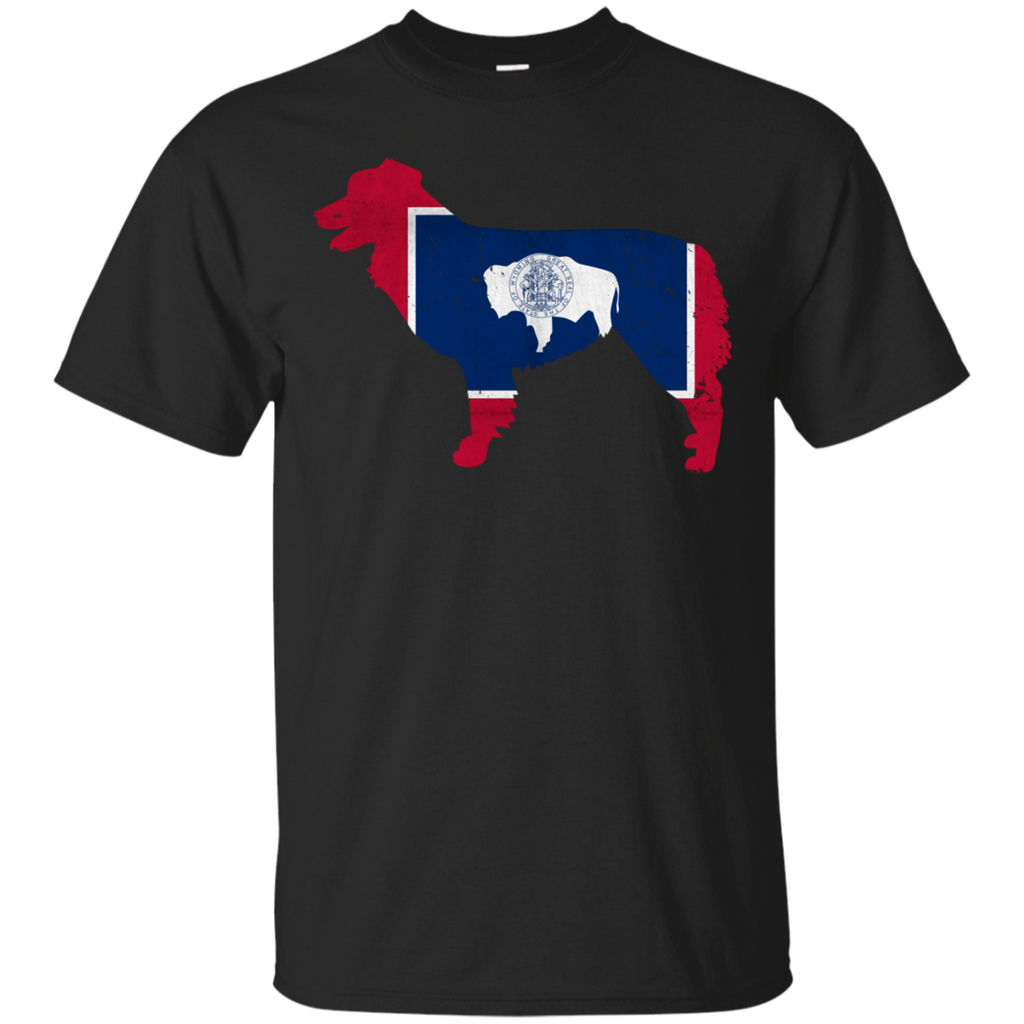 Border Collie Wyoming Flag Ultra Cotton T-Shirt
