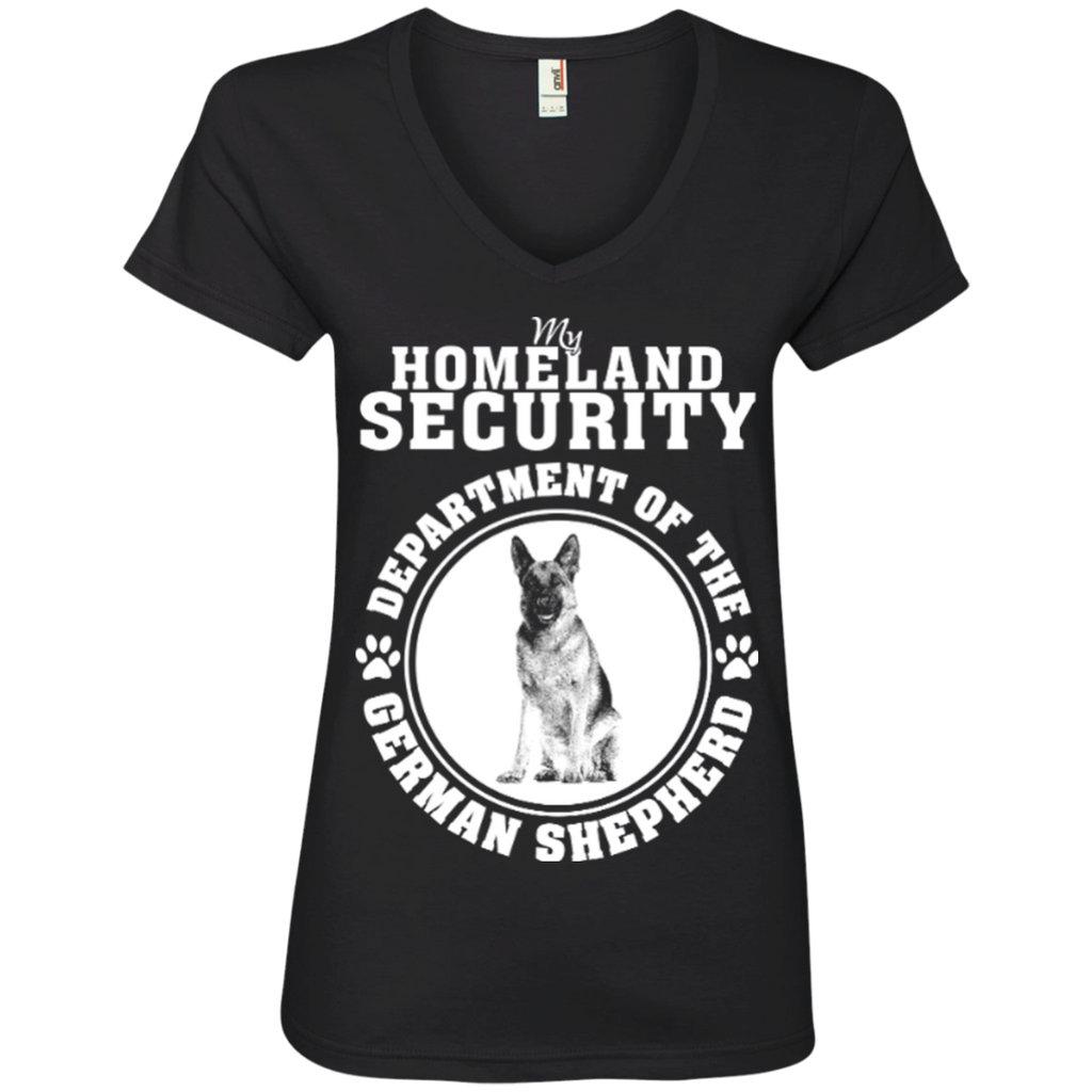Germa Shepherd Security Ladies' V-Neck Tee