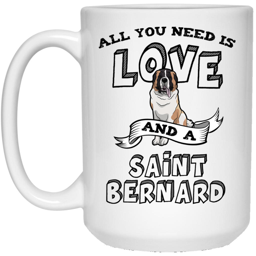 Saint Bernard All You Need Is Love Mug - 15oz