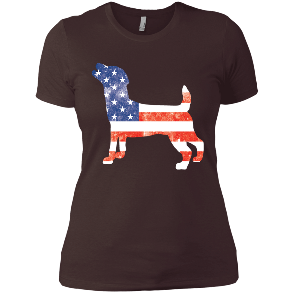 USA Jack Russell Fitted Tee