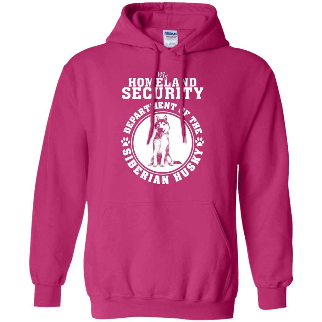 Siberian Husky Homeland Security Pullover Hoodie