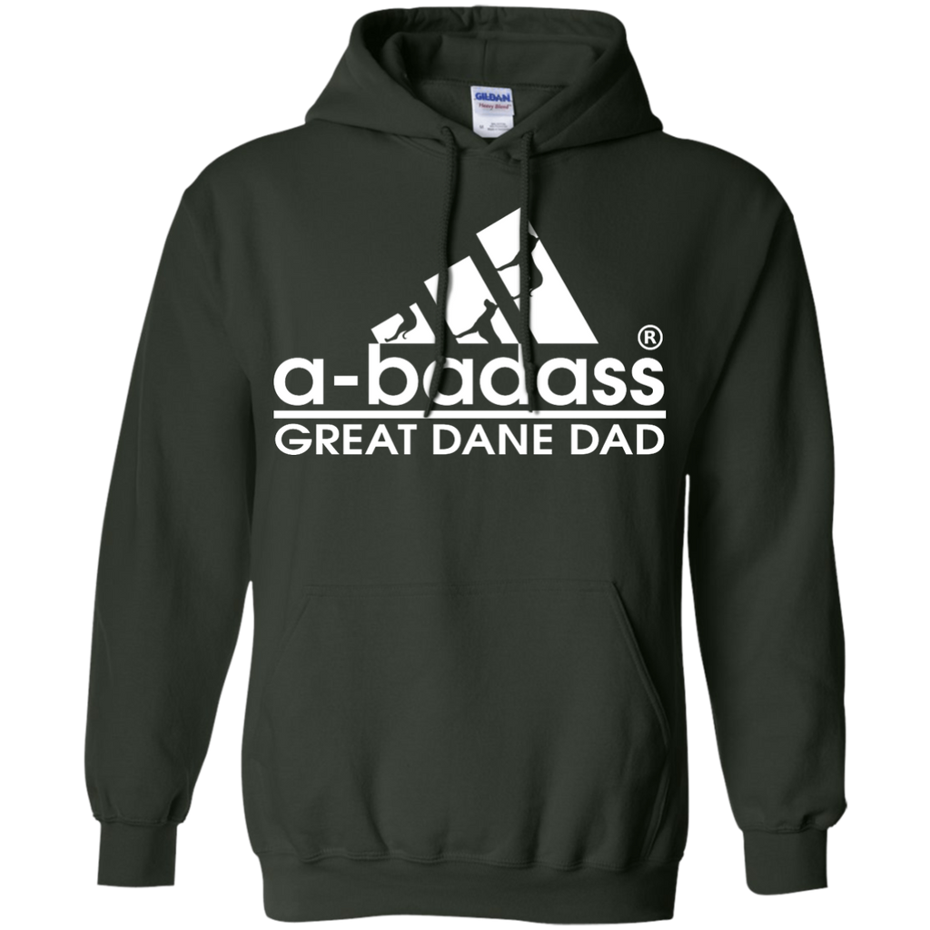 Badass Great Dane Dad Pullover Hoodie