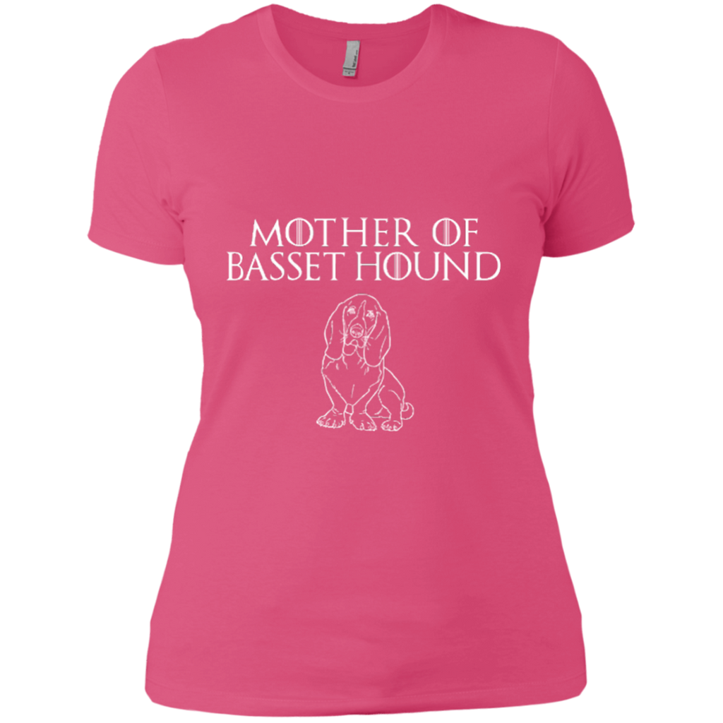 Mother Of Basset Hound Ladies Fitted Tee