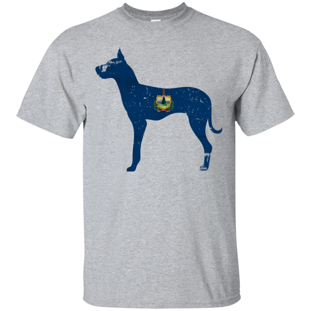 Great Dane Vermont Flag Gildan Ultra Cotton T-Shirt