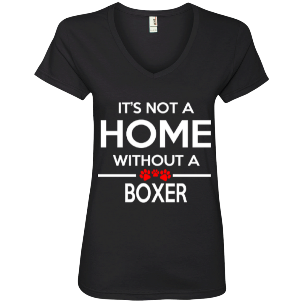 Not A Home Boxer Ladies' V-Neck Tee