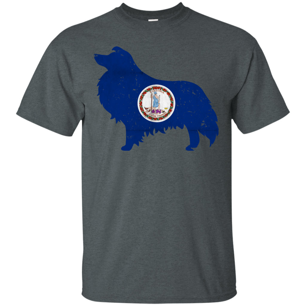 Shetland Sheepdog Virginia Flag Ultra Cotton T-Shirt