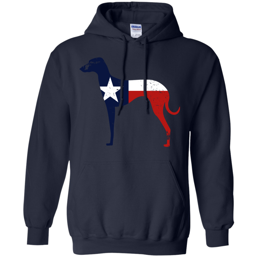 Greyhound Texas Flag Pullover Hoodie 8 oz.