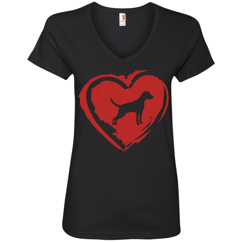 Love My Weimaraner Ladies' V-Neck Tee