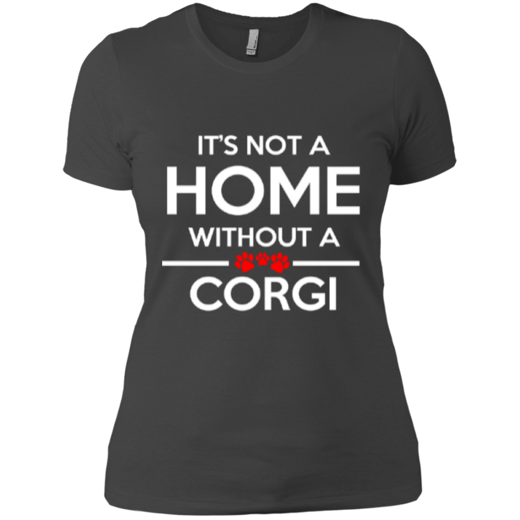 Not A Home Corgi Fitted Tee