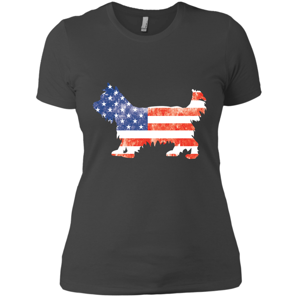 USA Yorkie Fitted Tee
