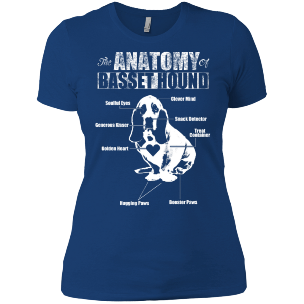 Anatomy Of Basset Hound Fitted Tee