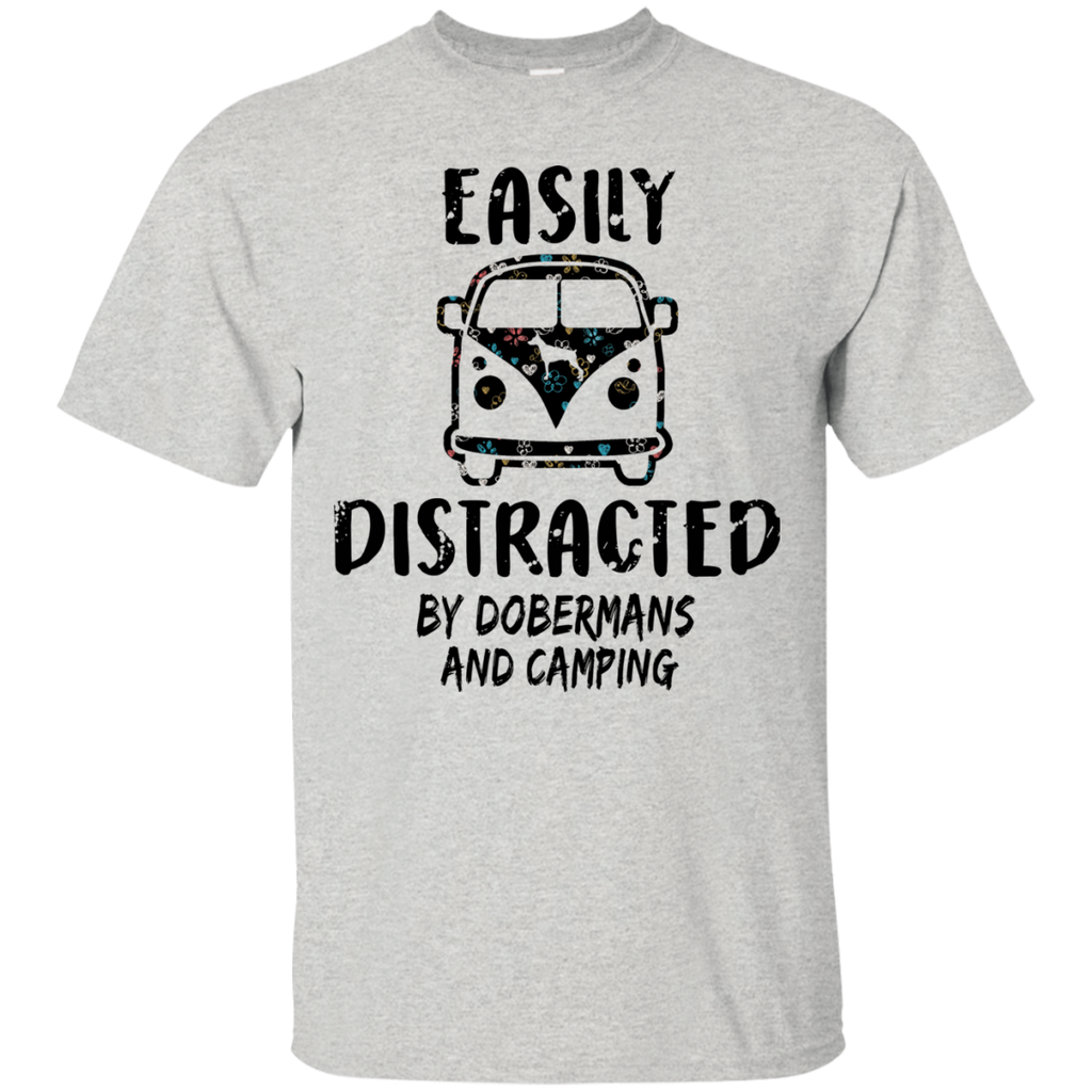 Doberman And Camping Ultra Cotton T-Shirt