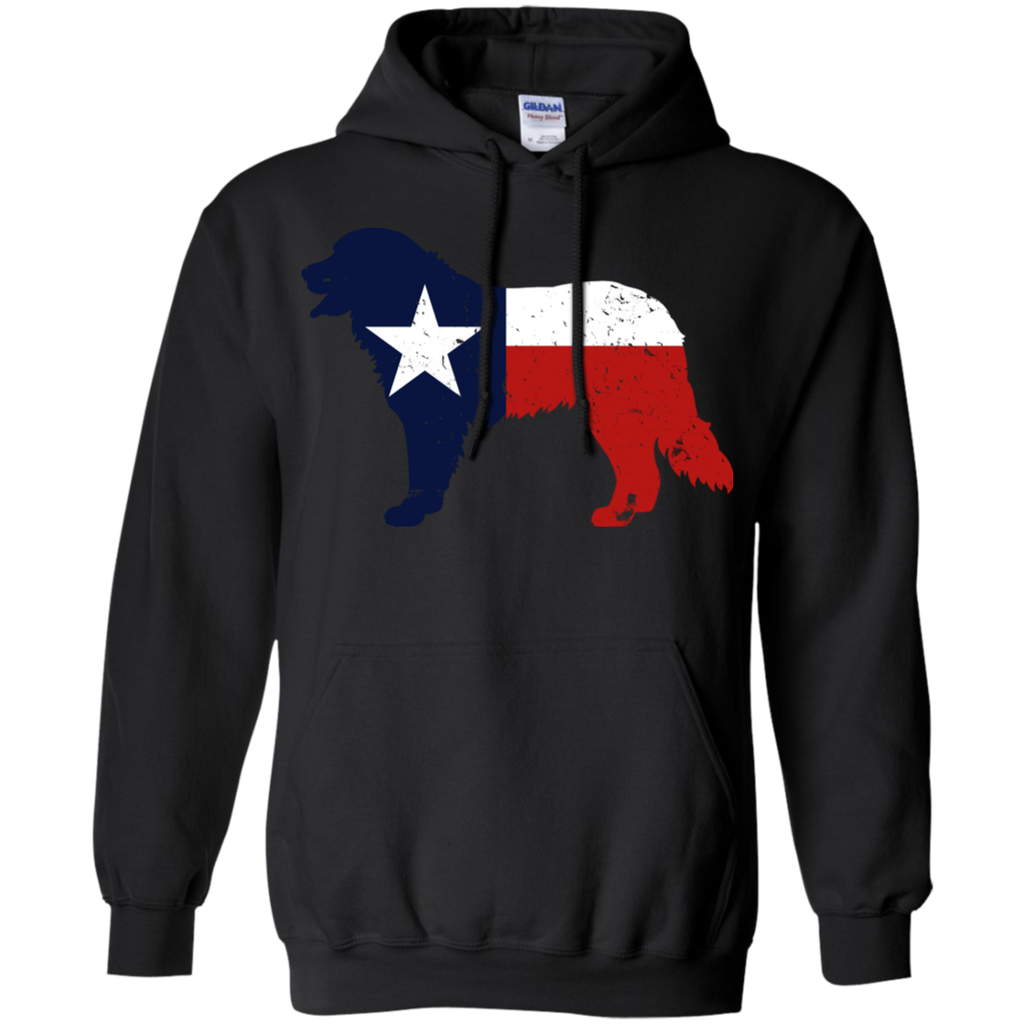 Bernese Mountain Dog Texas Flag Pullover Hoodie 8 oz.